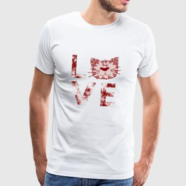 Love for cats, cats, cat owners - Men's Premium T-Shirt