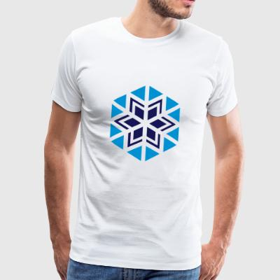 Winter snowflake design - Men's Premium T-Shirt