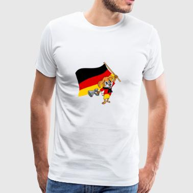 Germany fan dog - Men's Premium T-Shirt