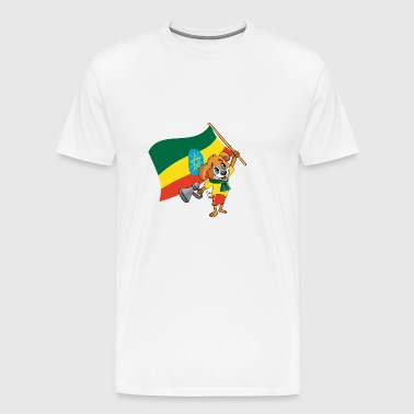 Ethiopia fan dog - Men's Premium T-Shirt