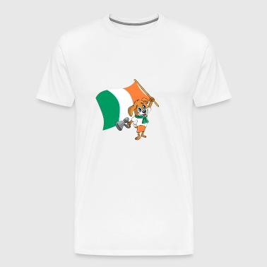 Ireland fan dog - Men's Premium T-Shirt