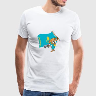 Kazakhstan fan dog - Men's Premium T-Shirt