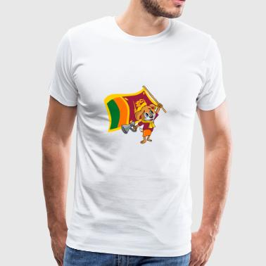 Sri Lanka fan dog - Men's Premium T-Shirt