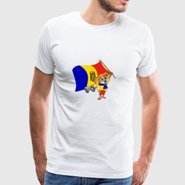 Chien fan de Moldavie - T-shirt Premium Homme