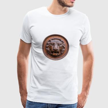 Lion - round, bronze - Men's Premium T-Shirt