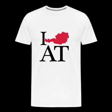 I love AT - I love Austria - Men's Premium T-Shirt