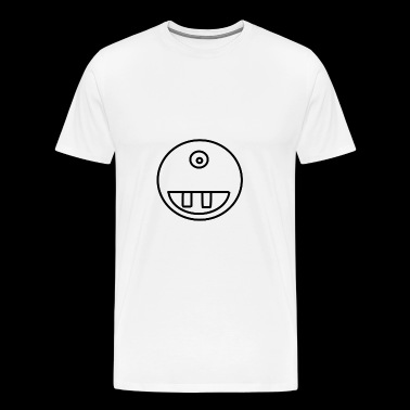 smiley tänder - Premium-T-shirt herr