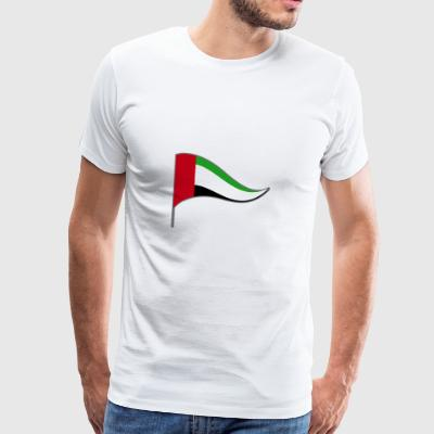 Arab Emirates Abu Dhabi ARE flag flag - Men's Premium T-Shirt