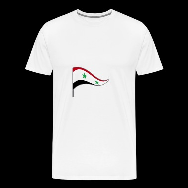 Banner. Flag. Country flag. Country. Syria. Syria. - Men's Premium T-Shirt
