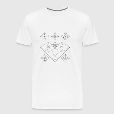 Non-earthly faces Abstract art - Men's Premium T-Shirt