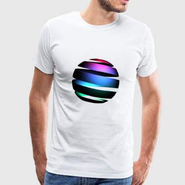 Glowing Sphere - Männer Premium T-Shirt