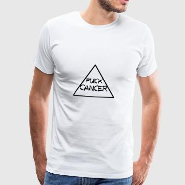 Knullcancer TRIANGELN RIBBON KAMP MOT CANCER - Premium-T-shirt herr