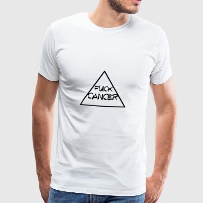 FUCK CANCER TRIANGLE RIBBON KAMP AGAINST CANCER - Men's Premium T-Shirt