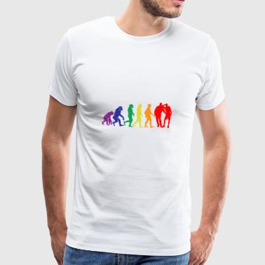 Gay evolution sex gift gay gaypride - Men's Premium T-Shirt