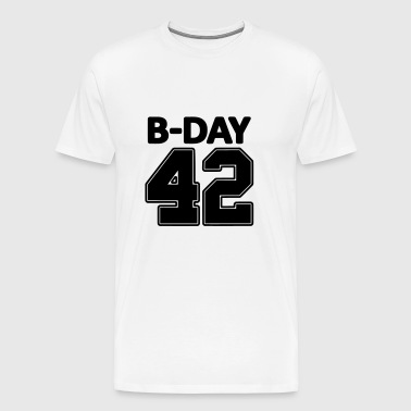 Number 42 / 42nd birthday number jersey number - Men's Premium T-Shirt