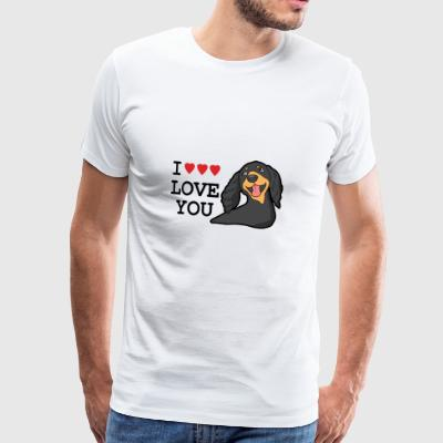 I LOVE YOU DOG - Maglietta Premium da uomo