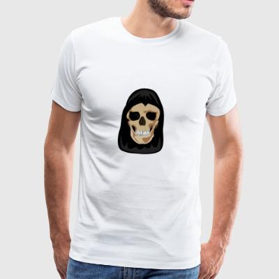 Schedel in Cape - Mannen Premium T-shirt