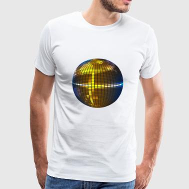 disco ball - Premium T-skjorte for menn