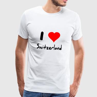 I love Switzerland - Männer Premium T-Shirt