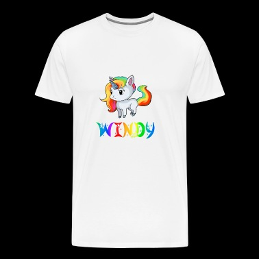 Unicorn Windy - Herre premium T-shirt