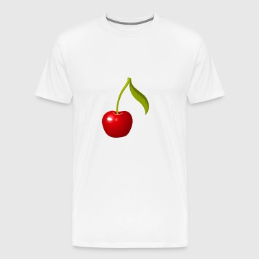 Cherry motif with stem perfect as a gift - Men's Premium T-Shirt