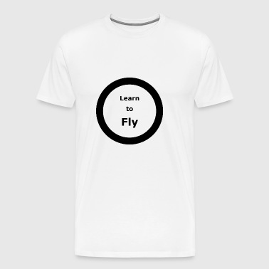 Template 3000x3000 CIRCLE Learn to Fly 2 - Men's Premium T-Shirt
