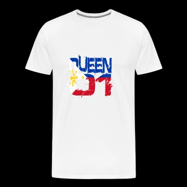 Gift Queen 01 Country Partner Filipijnen - Mannen Premium T-shirt