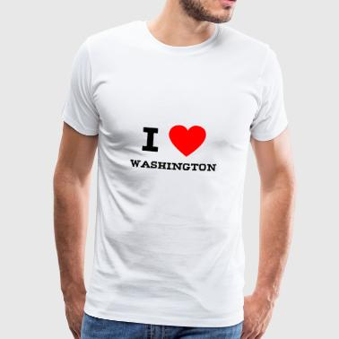i love Washington - Männer Premium T-Shirt