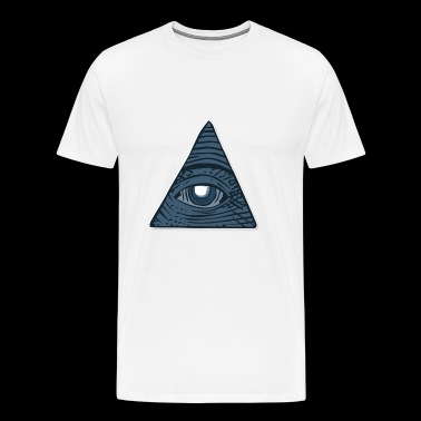 all seeing eye - Herre premium T-shirt