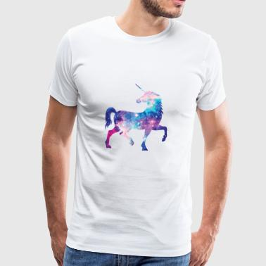Unicorn konstellation design - Herre premium T-shirt