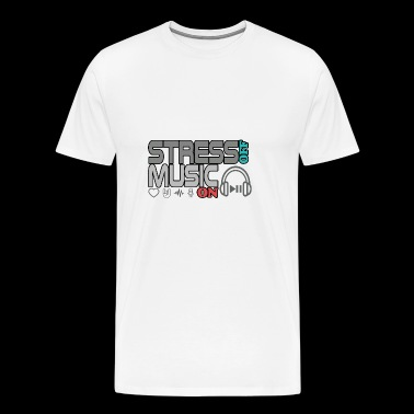 Turn off stress - turn on music - Men's Premium T-Shirt