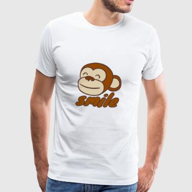 Smiling monkey - Men's Premium T-Shirt