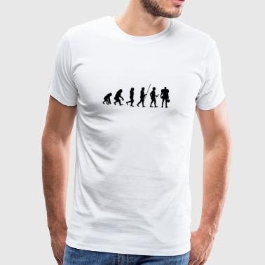 Evolution spelers voor t-shirt Football gift - Mannen Premium T-shirt