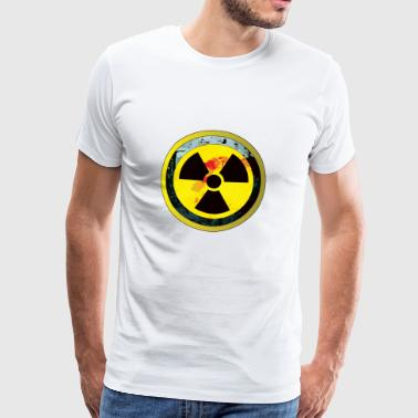 Careful, a radioactive design - Men's Premium T-Shirt