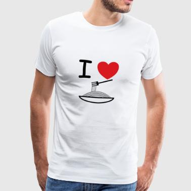 I love pasta gift idea - Men's Premium T-Shirt