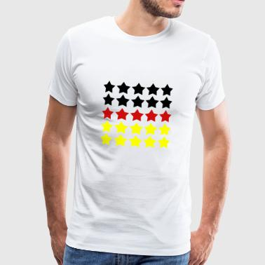 Five Stars Review German Flag - Men's Premium T-Shirt