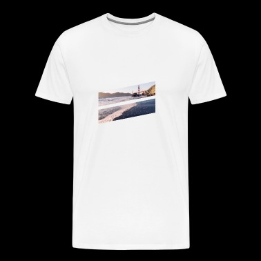 Sommer - Meer Golden Gate Bridge - Männer Premium T-Shirt
