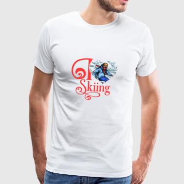 I LOVE SKIING - Men's Premium T-Shirt