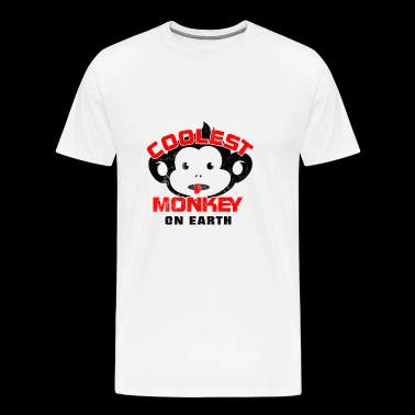 Kuleste Monkey On Earth - Premium T-skjorte for menn