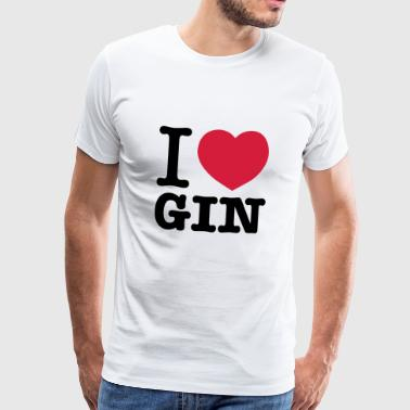 I love Gin - Men's Premium T-Shirt
