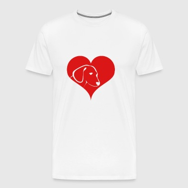 A heart for dogs - Men's Premium T-Shirt