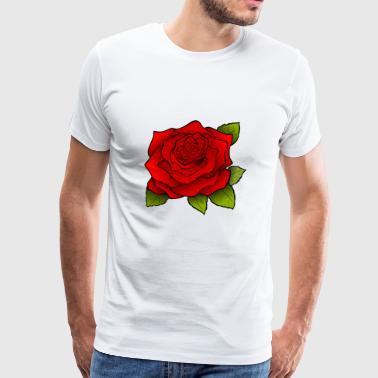 Trendy rose motiv! - Premium T-skjorte for menn
