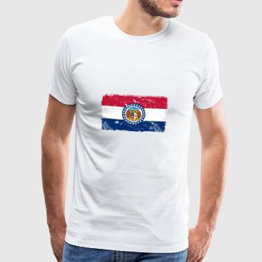 Missouri Vintage Flag - Premium T-skjorte for menn