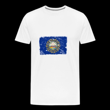 New Hampshire vintage flag - Men's Premium T-Shirt