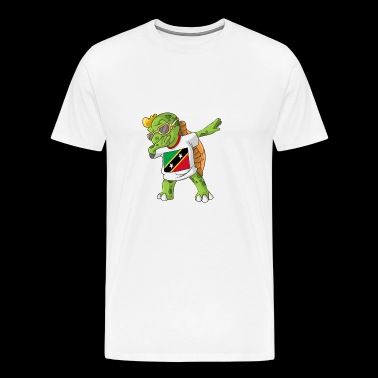 St. Kitts and Nevis Dabbing turtle - Men's Premium T-Shirt