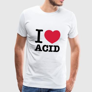 I love Acid - Männer Premium T-Shirt