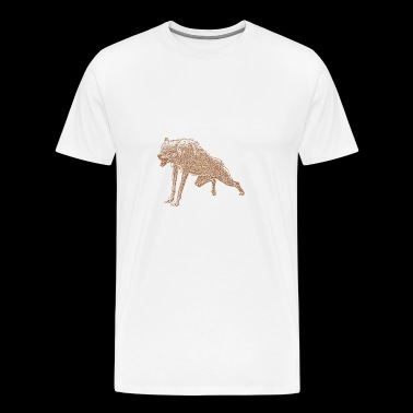 agressif Loup - T-shirt Premium Homme