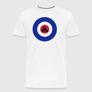 Target with scooter driver - Men's Premium T-Shirt