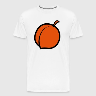 a single peach with stem - Men's Premium T-Shirt