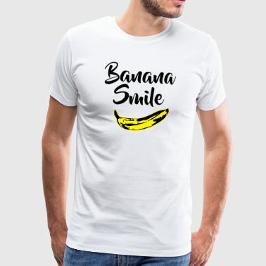 banana smile - Men's Premium T-Shirt